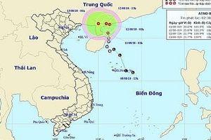Áp thấp nhiệt đới trên Biển Đông di chuyển chậm theo hướng Bắc