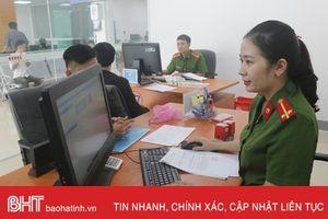 Công an Hà Tĩnh nỗ lực phục vụ tại các trung tâm hành chính công