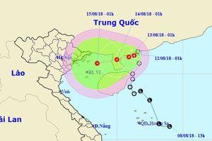 Áp thấp nhiệt đới có khả năng mạnh lên đang hướng vào Vịnh Bắc Bộ