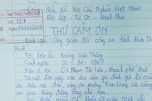 Cứu người phụ nữ nhảy cầu tự tử, CSGT Huế được dân viết thư cảm ơn