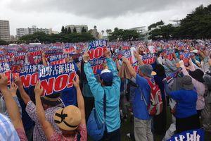 70.000 người Nhật Bản biểu tình phản đối căn cứ quân sự của Mỹ