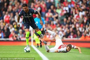 'Pháo thủ' tịt ngòi, thua 'sấp mặt' Man City ngay tại Emirates