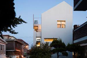 Nhà nhỏ giữa khu dân cư đông đúc vẫn ngập sáng nhờ giếng trời
