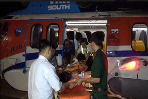 Máy bay trực thăng vượt thời tiết xấu chuyển bệnh nhân từ Trường Sa vào đất liền cấp cứu
