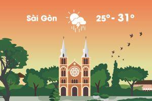 Thời tiết ngày 14/8: Sài Gòn mưa lớn, Hà Nội nóng 36 độ C