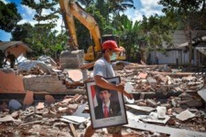 'Dư chấn' từ trận động đất tại Indonesia