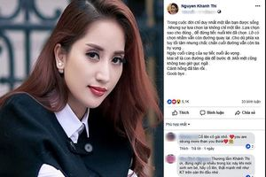 Khánh Thi liên tục đăng tải status buồn bã và muốn buông bỏ tình yêu?