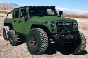 Xe độ 6 bánh từ chiếc Jeep Wrangler bất chấp địa hình