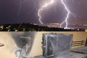 Sét đánh cháy tivi của nhiều hộ dân ở Quỳ Châu