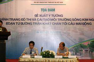 Chuyên gia đề xuất ý tưởng chỉnh trang đô thị và cải tạo môi trường sông Kim Ngưu