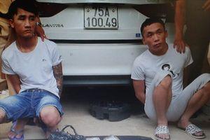 Quảng Trị: Bắt 2 nam thanh niên vận chuyển 2kg ma túy tổng hợp