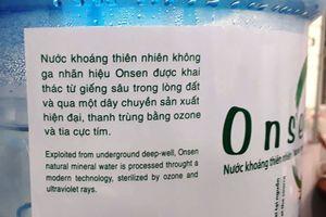 Onsen bán nước ngầm thành nước khoáng