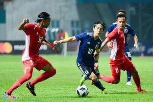 Olympic Nhật Bản xếp sau Olympic Việt Nam khi thắng tối thiểu