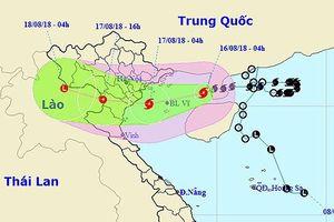Bão số 4 đã vào Vịnh Bắc Bộ, Hà Nội có mưa lớn