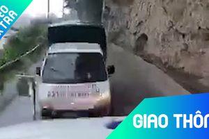 Xe tải chạy trên đèo dốc đâm thẳng vào đầu xe container