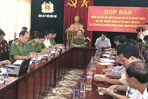 Họp báo thông tin chính thức vụ xả súng khiến 3 người chết ở Điện Biên