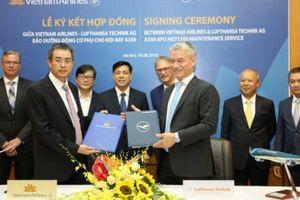 Vietnam Airlines và Lufthansa Technik ký hợp đồng bảo dưỡng động cơ phụ cho đội bay Airbus A350