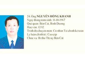 Cựu bí thư Thị ủy Bến Cát bị tạm đình chỉ nhiệm vụ HĐND