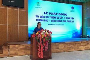 Chủ tịch CĐ Y tế VN phát động phong trào không khói thuốc lá ở các cơ sở y tế