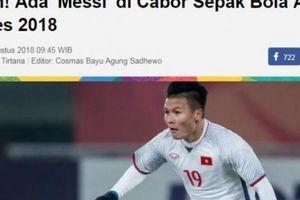 Báo Indonesia gọi Quang Hải là 'Messi của ASIAD 18'