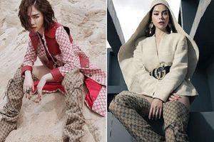 Khi Hà Hồ và Tóc Tiên cùng diện chung đôi boots 'khủng': Người được khen high fashion, kẻ bị gọi là 'ma sơ'