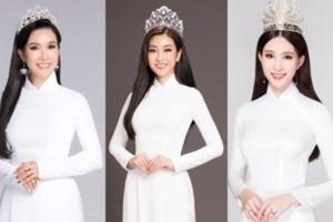 Trầm trồ mãn nhãn với bộ ảnh 14 Hoa hậu Việt Nam lần đầu cùng nhau khoe sắc với áo dài trắng