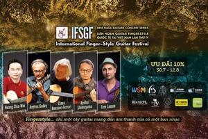 5 nghệ sĩ nổi tiếng dự Liên hoan guitar fingerstyle quốc tế tại Việt Nam