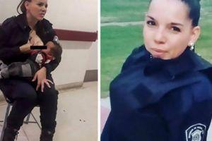 Thấy bác sĩ quá bận, nữ cảnh sát Argentina cởi áo làm điều bất ngờ