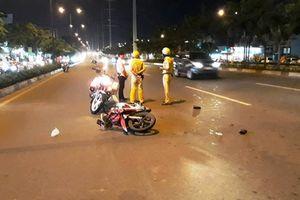 Cảnh sát giao thông bị người vi phạm tông trọng thương