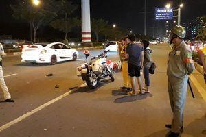 TP.HCM: Chiến sĩ CSGT bị tông trọng thương trên đại lộ Phạm Văn Đồng