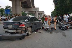 Hà Nội: Xe BMW đâm liên hoàn trên phố Nguyễn Trãi, 2 cháu bé bị thương