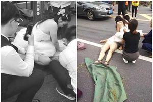 Chú rể bơ vơ giữa đường vì cô dâu bận chạy đi cứu người