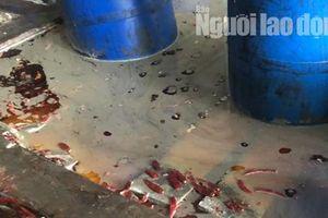 Cận cảnh cơ sở ớt ngâm với muối có lẫn côn trùng ở Sài Gòn