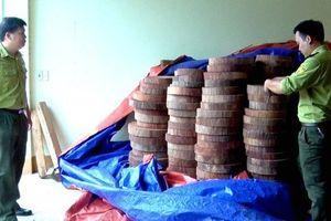 Hà Giang: Phát hiện điểm chứa gỗ nghiến dạng thớt không nguồn gốc