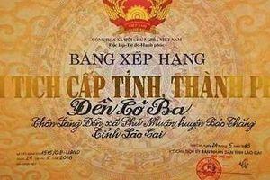 Lào Cai tổ chức đón Bằng di tích lịch sử văn hóa Đền Cô Ba