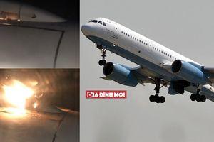 Chỉ 7 phút sau khi hạ cánh, toàn bộ 202 hành khách thoát ra ngoài chiếc máy bay cháy động cơ