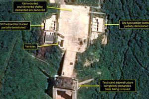Reuters: Triều Tiên dừng việc tháo dỡ bãi thử động cơ tên lửa