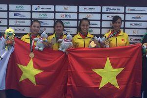 Đội tuyển Rowing Việt Nam chưa tin đã giành vàng tại ASIAD 18