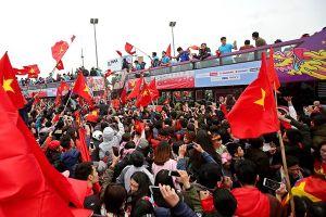 8 màn hình 'khủng' cổ vũ U23 Việt Nam tại Phố đi bộ Nguyễn Huệ