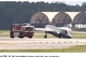F-35A cắm đầu xuống đất khi hạ cánh
