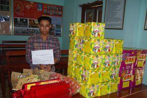 BĐBP Lạng Sơn thu giữ hơn 600 kg pháo nổ