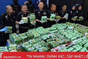 Malaysia thu giữ hơn nửa tấn ma túy giấu trong các gói trà