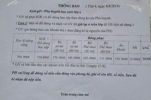 Trường tiểu học ở Hà Nội trả lại phụ huynh tiền thu sai quy định