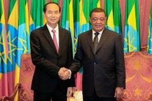 Chủ tịch nước Trần Ðại Quang hội đàm với Tổng thống Ethiopia M.Teshome