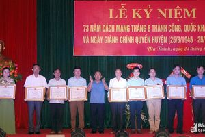 Yên Thành kỷ niệm 73 năm giành chính quyền huyện