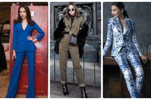 Sang chảnh và thời thượng thế này bảo sao thời trang suit khiến Thanh Hằng mê mẩn, Hoa hậu Hương Giang lên tầm nhan sắc
