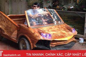 Ngắm 'siêu xe' Lamborghini bằng gỗ độc đáo giá 20 triệu của 9x Hà Nội