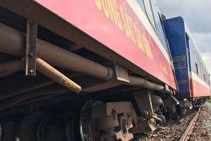 Tàu hỏa bị trật bánh ở ga Vĩnh Hảo – Bình Thuận hành khách hoảng loạn