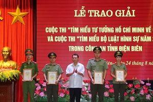 Công an tỉnh Điên Biên trao giải cuộc thi 'Tìm hiểu tư tưởng Hồ Chí Minh về CAND'