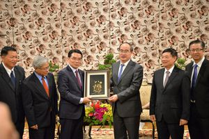 Bí thư Nguyễn Thiện Nhân tiếp Chủ tịch Trung ương Hội hữu nghị Lào - Việt Nam